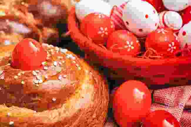 Red Easter eggs (Shutterstock)