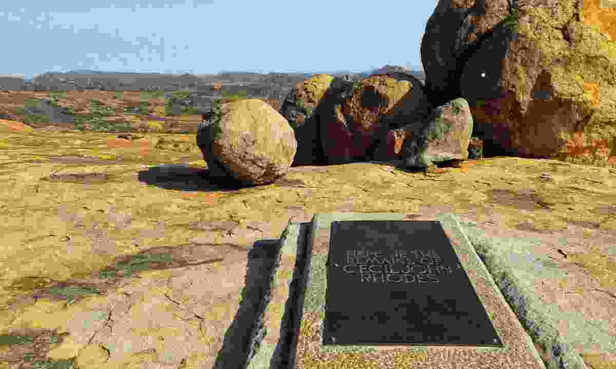 The gravestone of Cecil Rhodes in spectacular Matobo National Park (Mark Eveleigh)