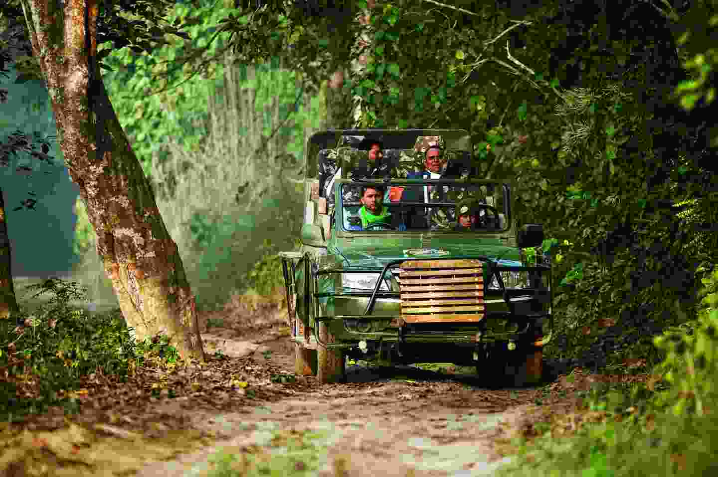 Out on the trail in Dudhwa National Park India (Mark Stratton)