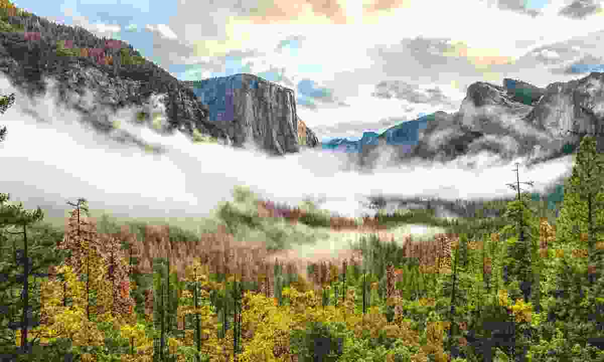 Yosemite National Park Valley on a cloudy autumn morning (Dreamstime)