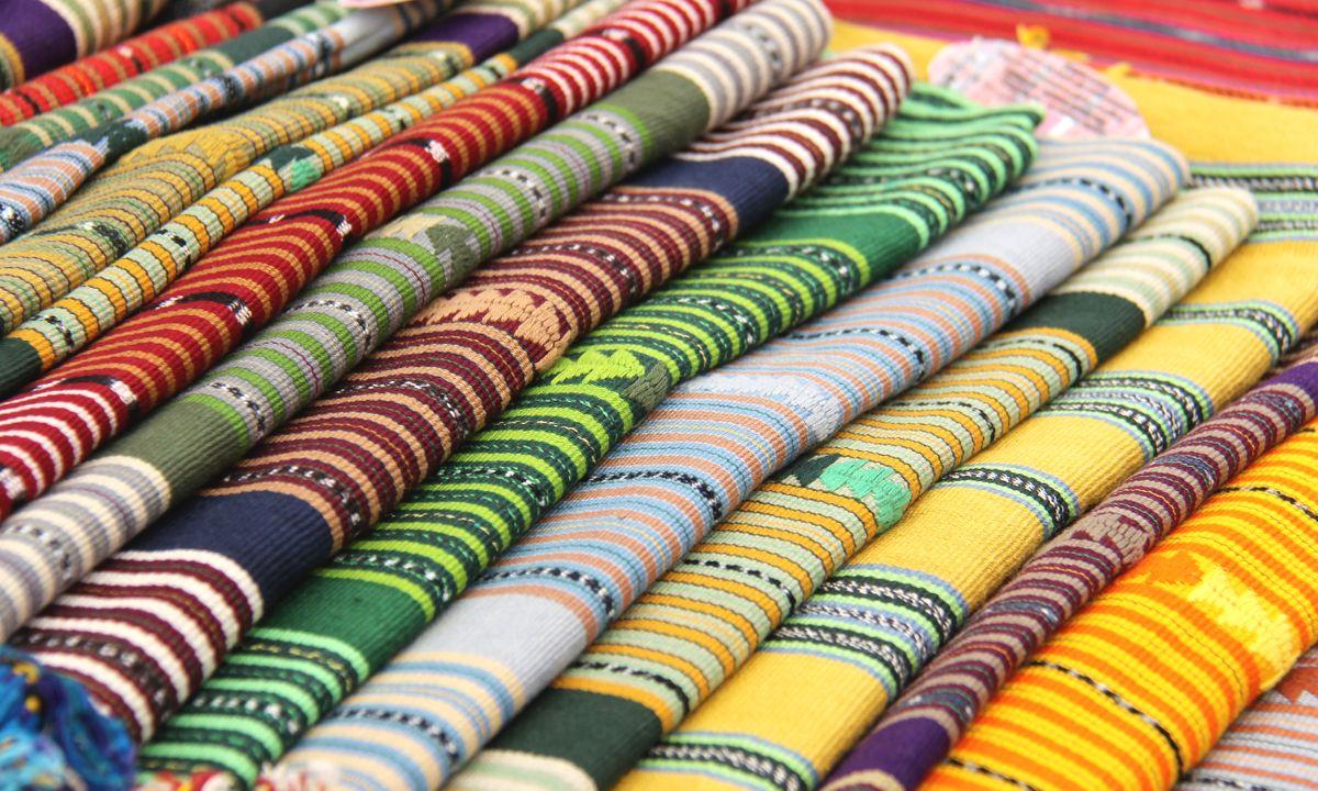 Textiles at a Guatemala market (Select Latin America)