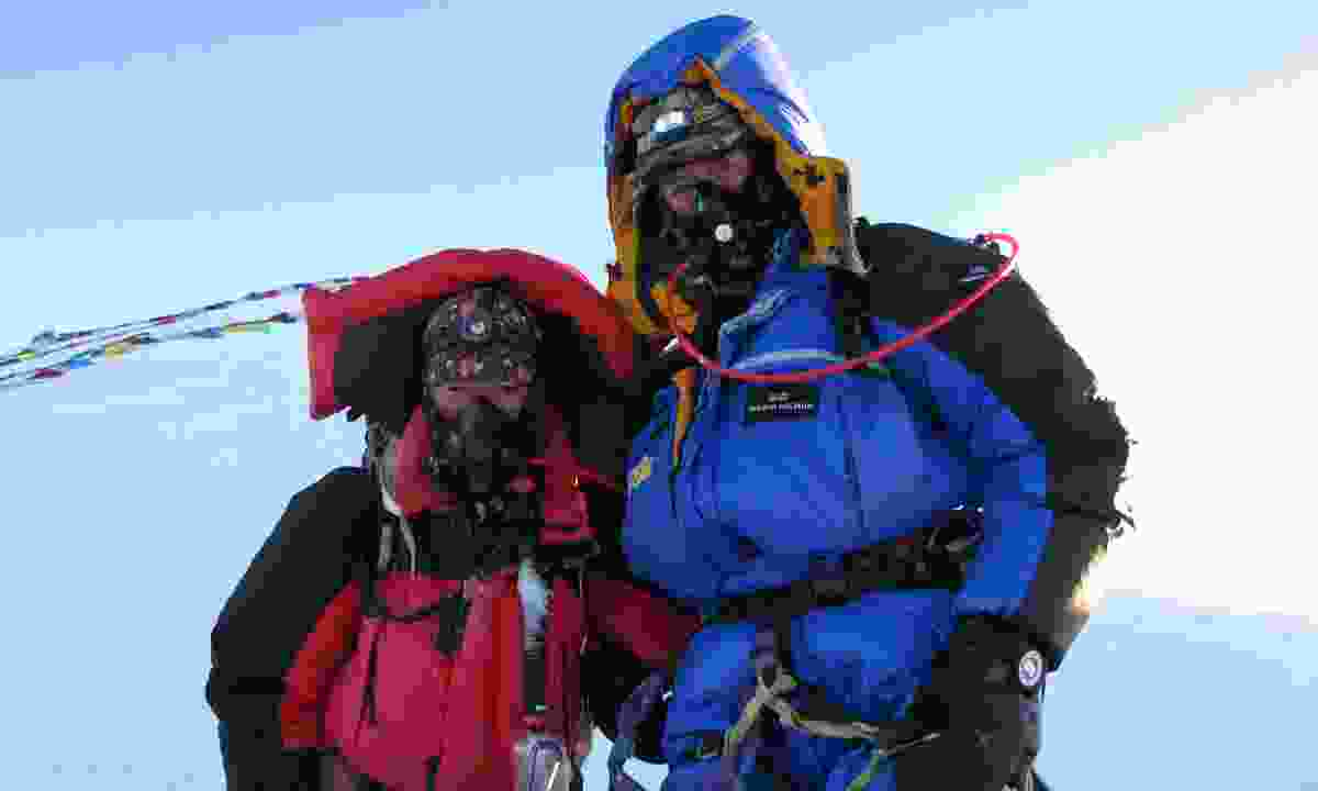 On the summit of Everest with Sherpa Tundu (Adventure Travel Show)