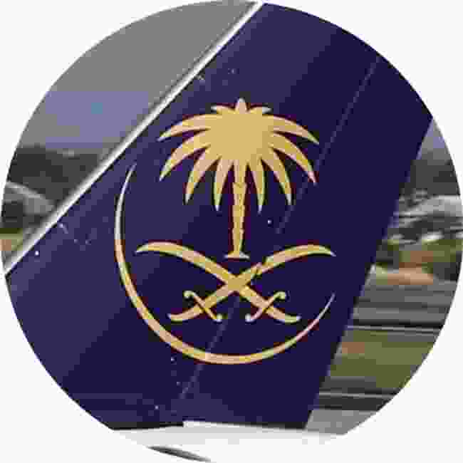 Swords and palm tree of Saudia (Shutterstock)