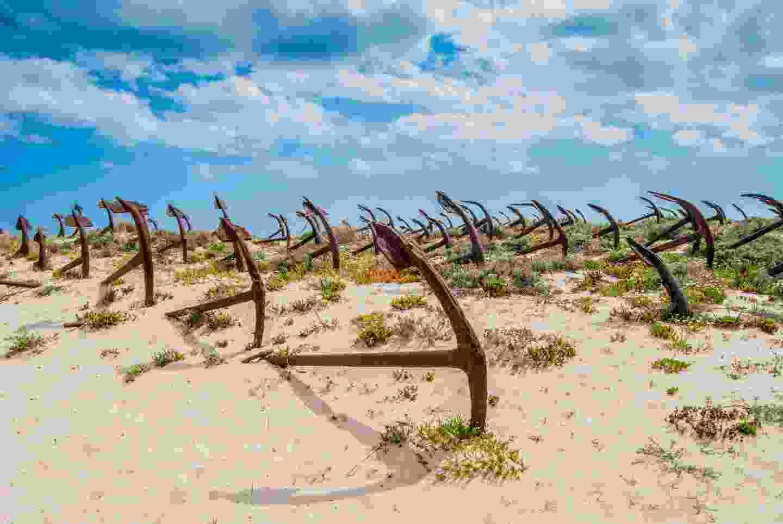 Anchor cemetery at the Barril beach in Tavira (Shutterstock)