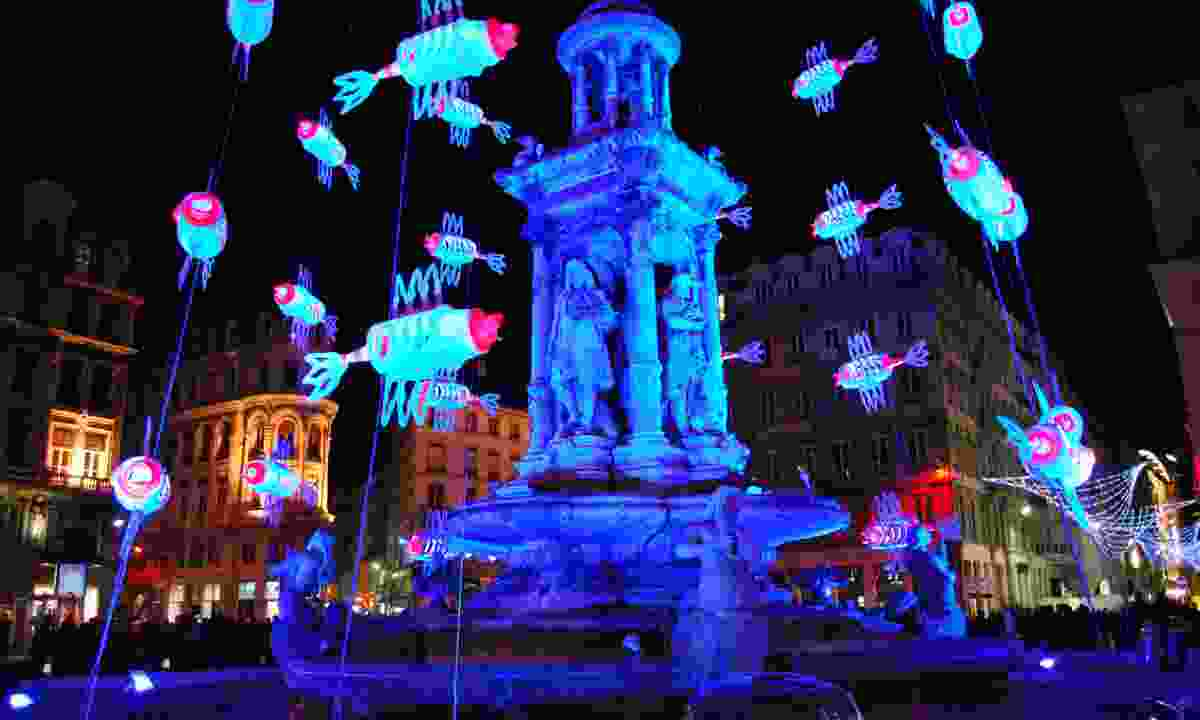 Light installation during Fête des Lumières (Shutterstock)