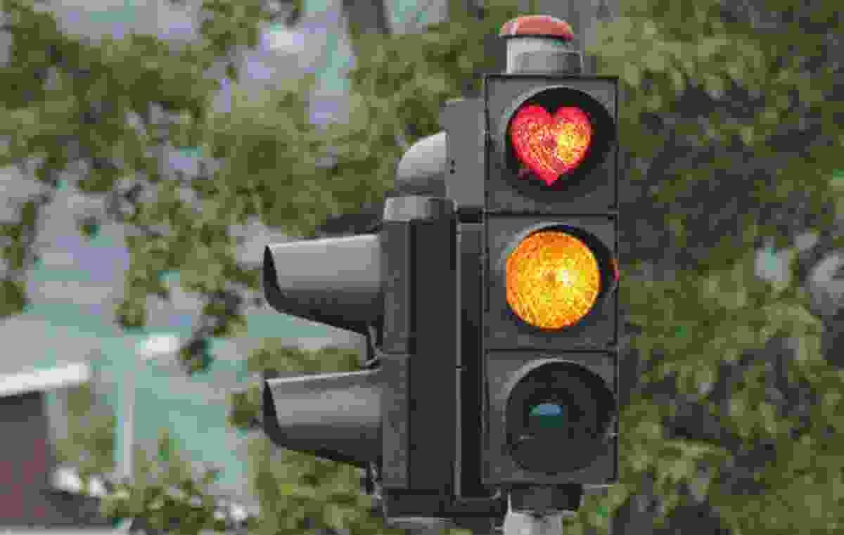 Heart traffic lights in Akureyri (Kai Oidtmann)