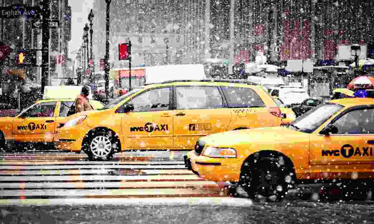 Yellow cab in New York City (Dreamstime)