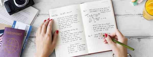 Travel notebook (Dreamstime)