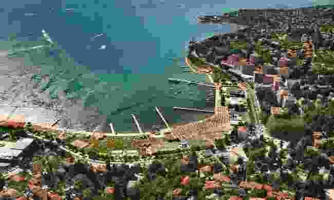 Portoroz aerial view (Slovenian Tourist Board)