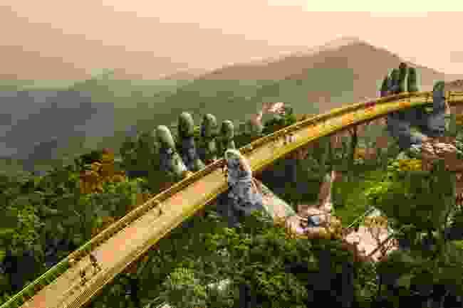 The Golden Hands Bridge in the Ba Na Hills, Da Nang (Shutterstock)