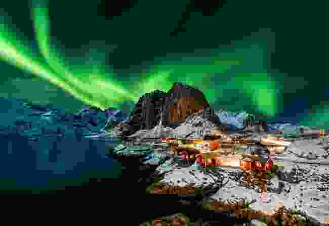 Northern Lights over Hamnoy, Norway (Shutterstock)
