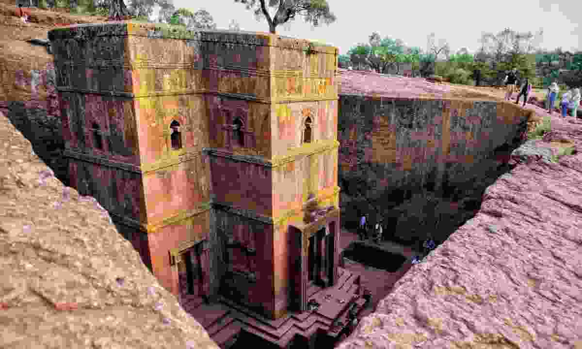 Rock-cut church in Lalibela, Ethiopia (Steppes Travel)
