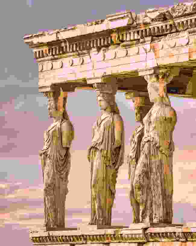 Karyatides statues on the Acropolis in Athens (Shutterstock)