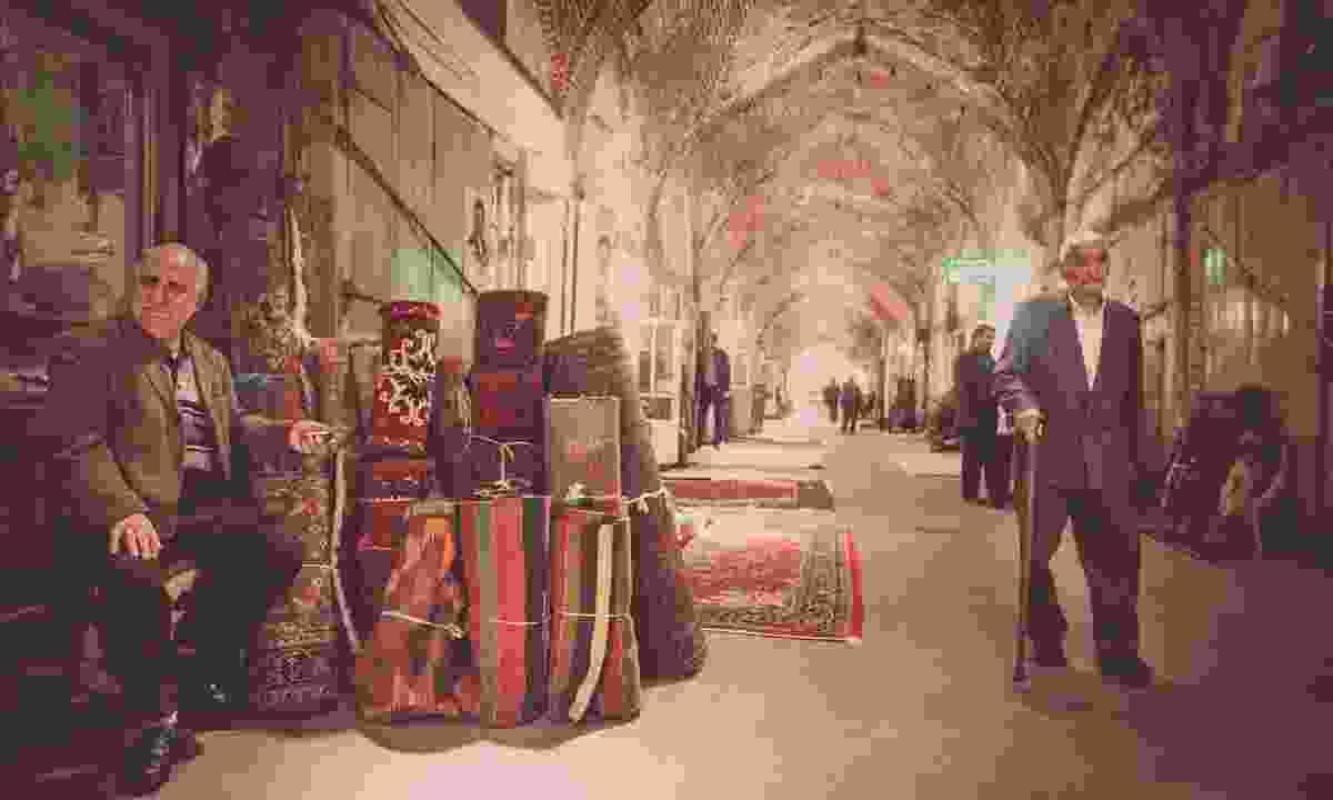 Persian carpets in the Tabriz bazaar (Shutterstock)