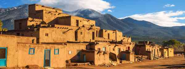 Ancient dwellings of UNESCO World Heritage Site named Taos Pueblo in New Mexico (Shutterstock)