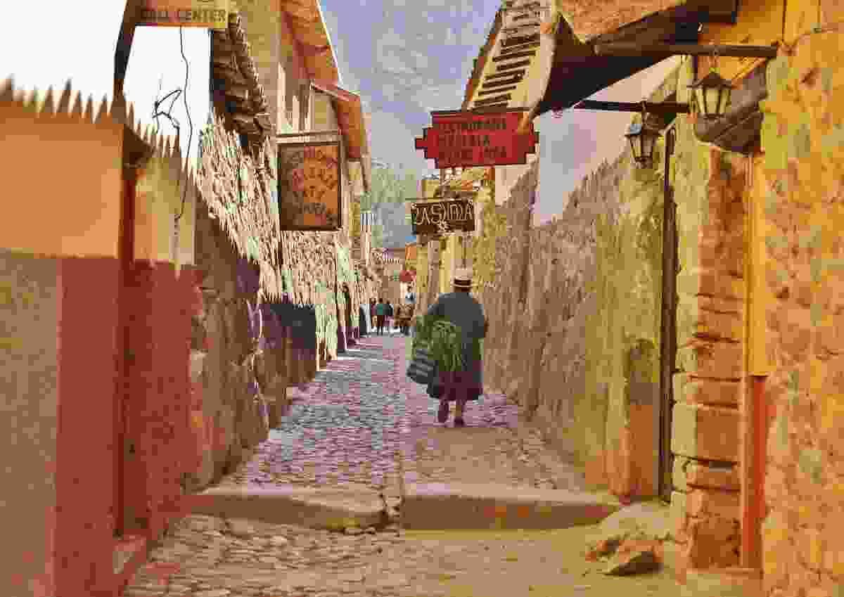 The morning commute in Ollyantaytambo, Peru (Matt Hill)