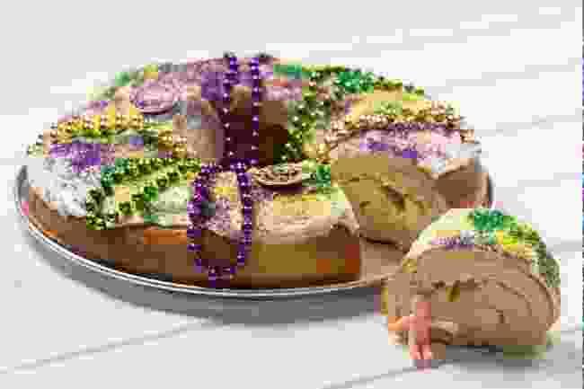 A King cake (Shutterstock)