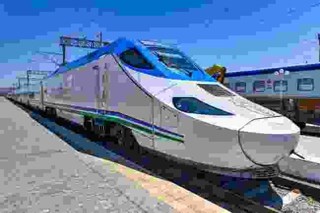 The Afrosiyob train travels from Tashkent to Bukhara and Samarkand (Shutterstock)