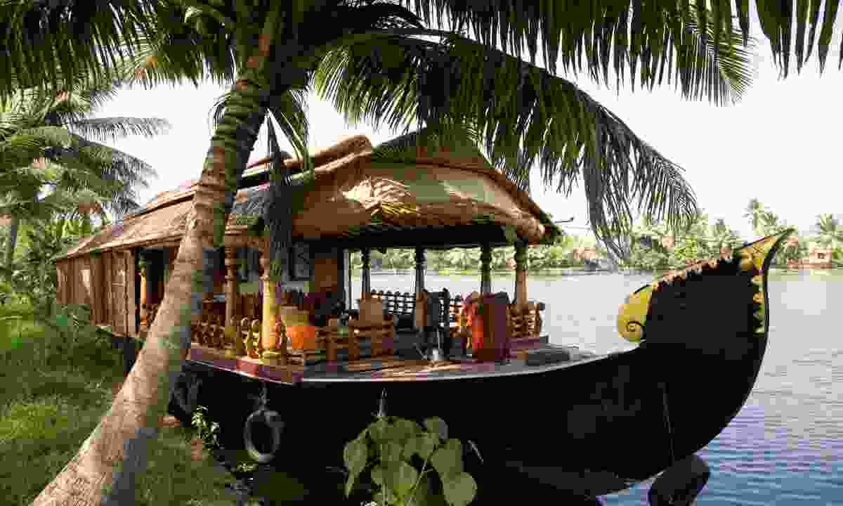 A houseboat on Kerala backwaters (Dreamstime)