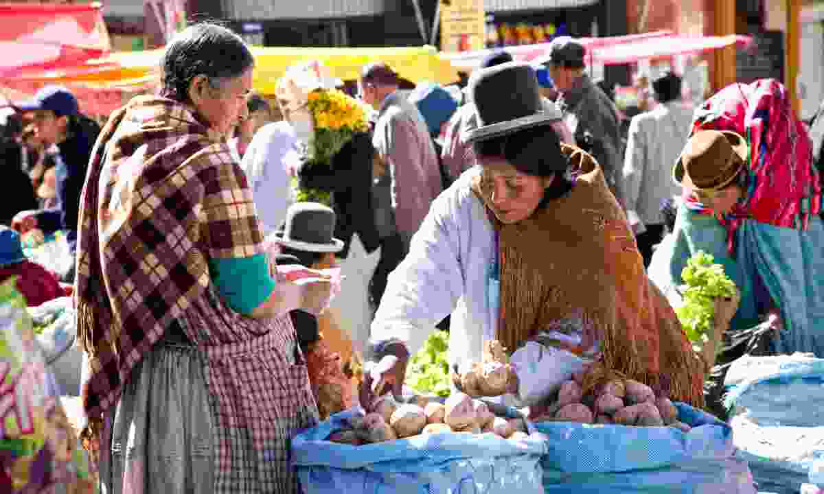 Food market in Bolivia (Dreamstime)