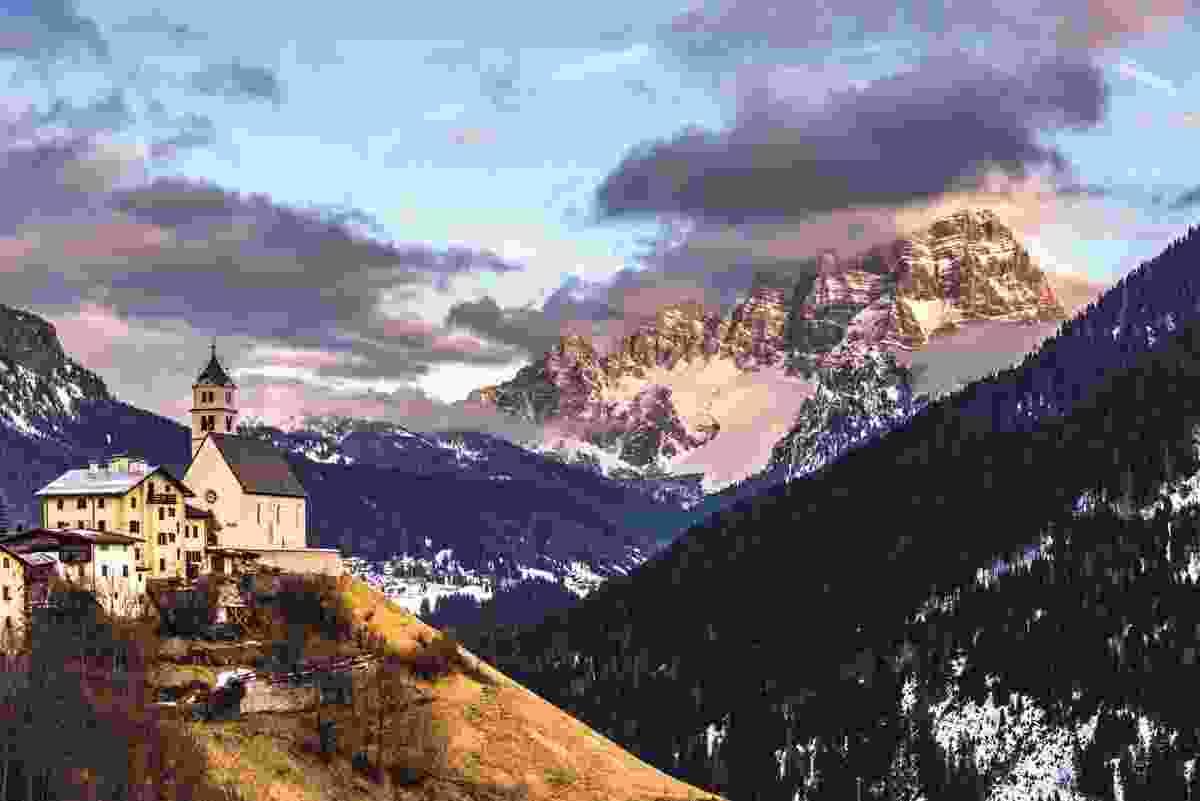 The Val Fiorentina enjoys excellent views of Monte Pelmo (James Rushforth)