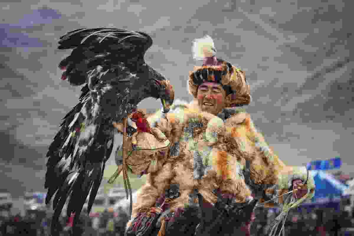 During the Golden Eagle Festival in Mongolia (Shutterstock)