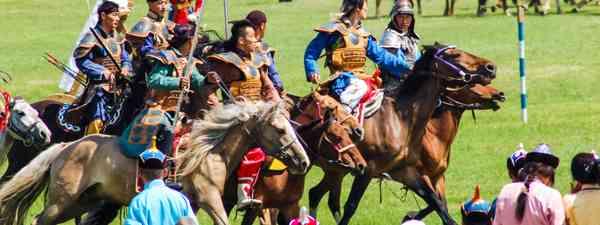 The opening ceremony of Naadam in Ulaanbaatar, Mongolia (Shutterstock)