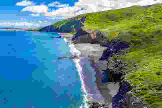 New Beach on the east coast was created after the volcanic eruptions (Montserrat Tourism Division)