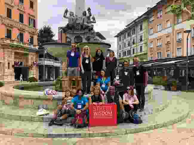 By the Guidotti Fountain with the group (Phoebe Smith)