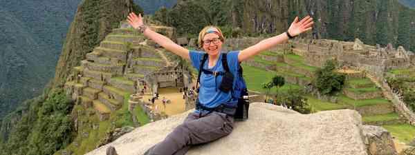 The author overlooking Machu Picchu (Sarah Baxter)