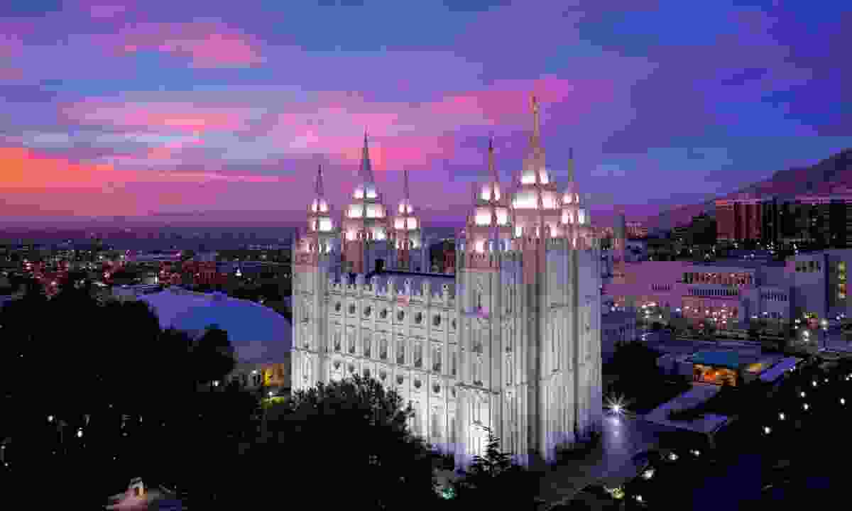 The temple looming over Salt Lake City's cultural Temple Square