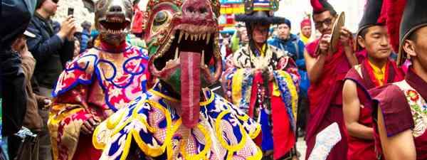 Tibetan Buddhist Tiji Festival held in Lo Manthang, Tibet (Shutterstock)