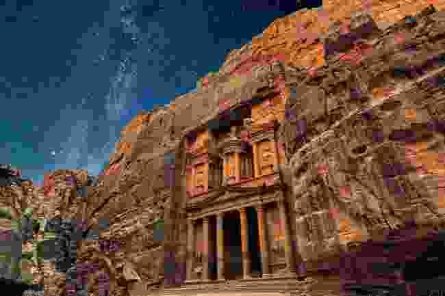Ancient Petra at night, Jordan (Dreamstime)