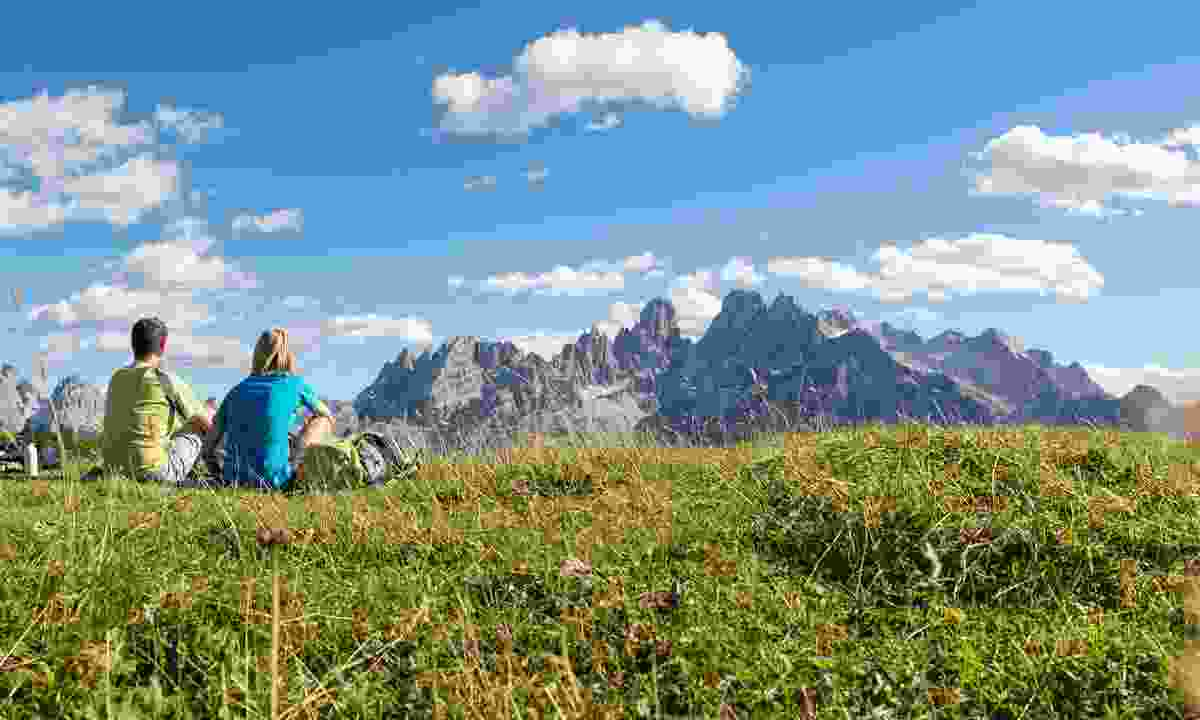 In the Dolomites hikers are treated to first-class views every way they turn (IDM Suedtirol/Thomas Gruener)