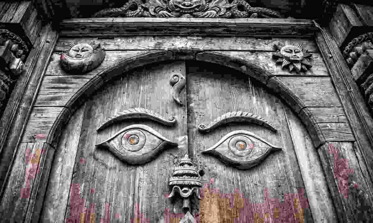 Wooden door in Kathmandu (Shutterstock)