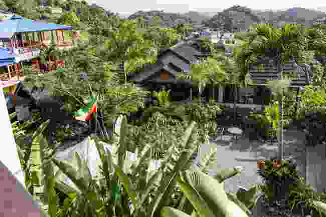 The courtyard of the Bob Marley museum in Nine Mile (Dreamstime)