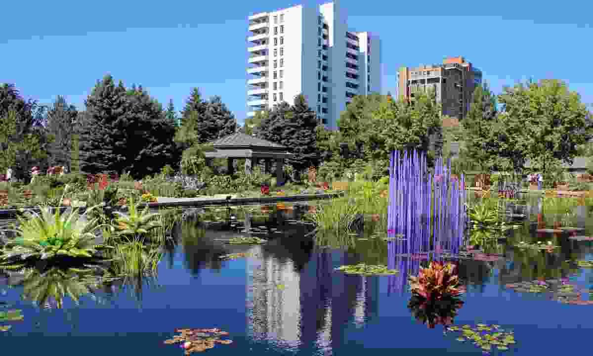 Artworks exhibited at the Denver Botanic Gardens (Dreamstime)