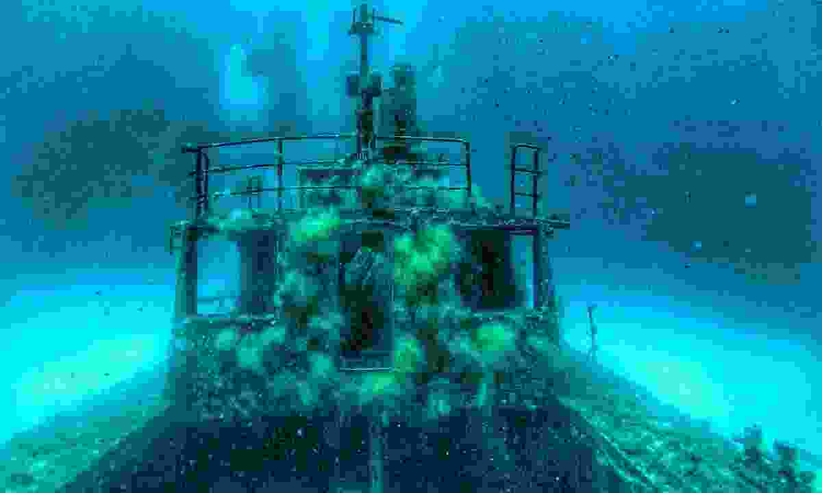 German wreck sunk in Malta for scuba diving (Dreamstime)