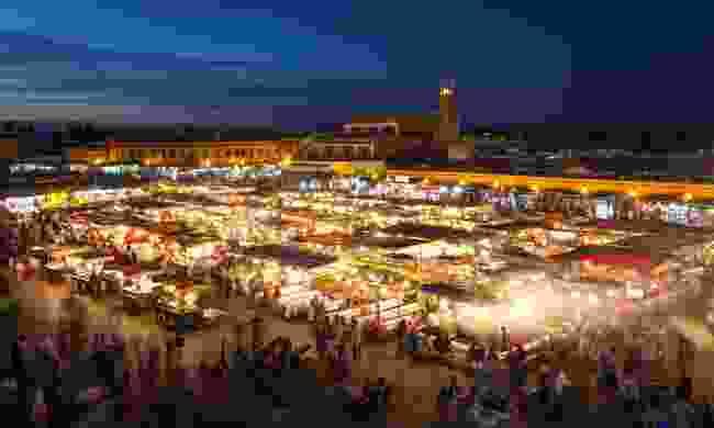 Djemaa El Fna at dusk, Marrakech (Dreamstime)