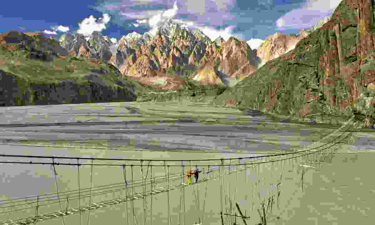 Footbridge along the Karakoram Highway (Wild Frontiers)
