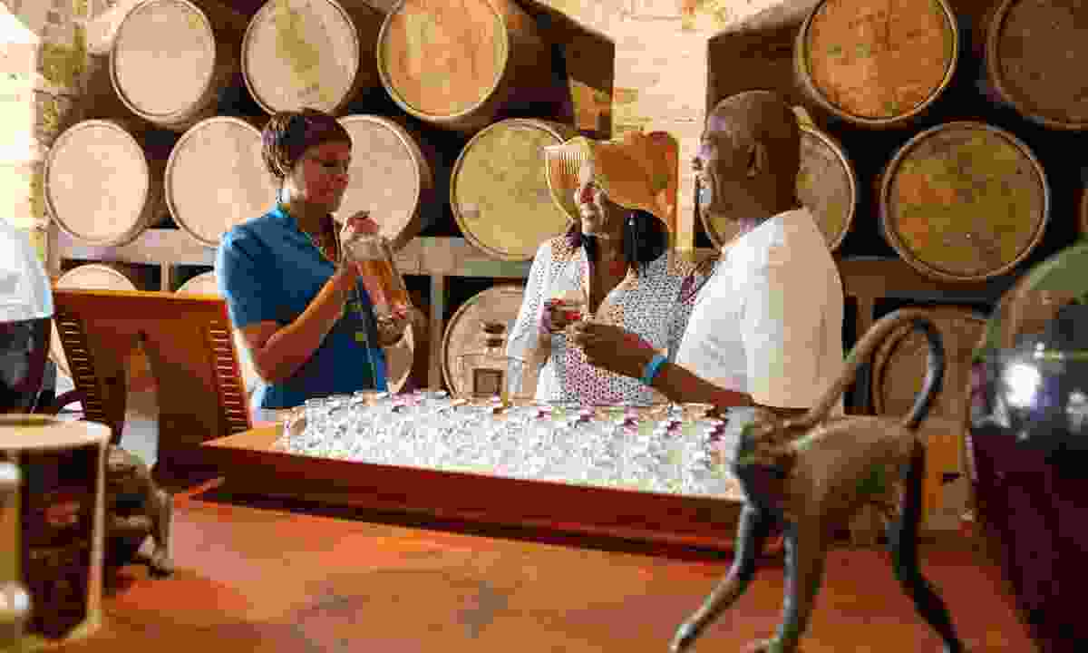 Sampling rum at St Nicholas Abbey (visitbarbados.org)