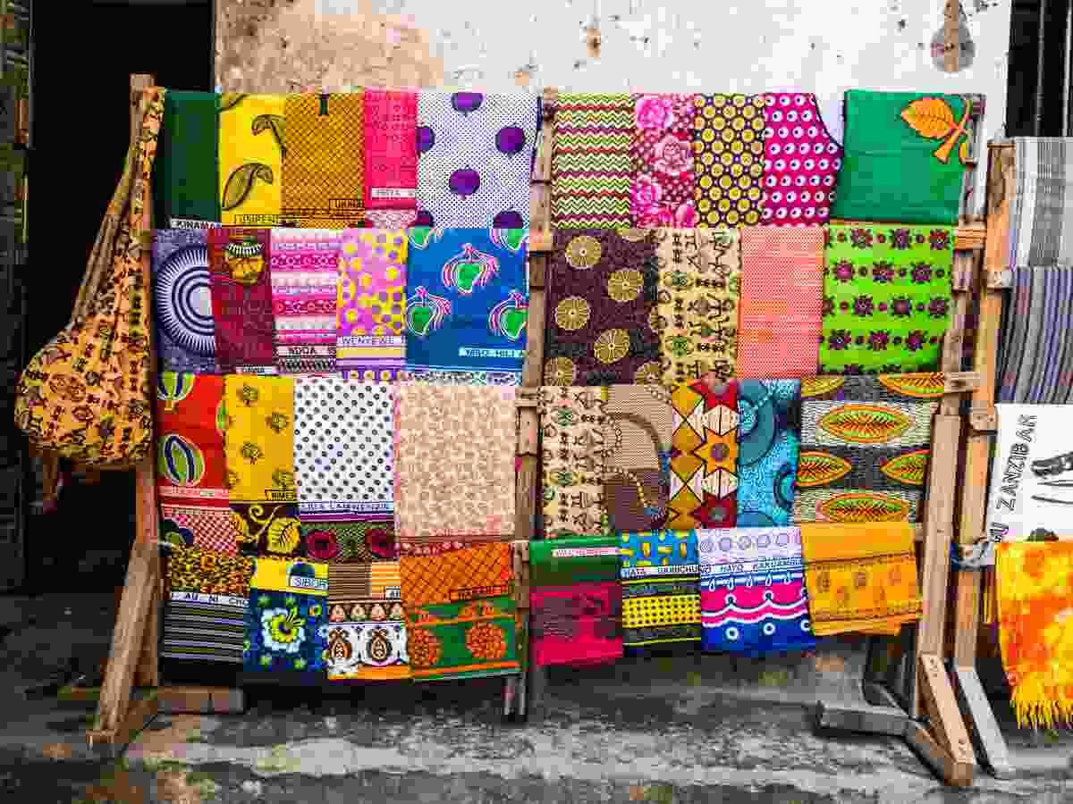 Kangas for sale in Zanzibar (Dreamstime)