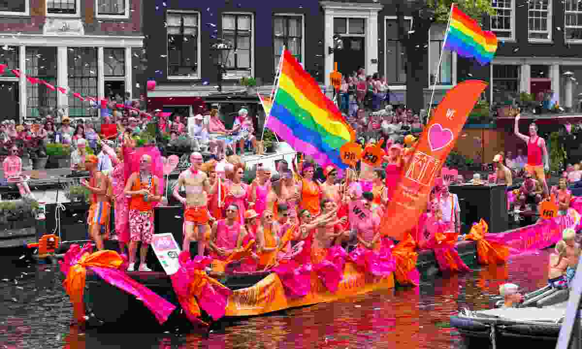 Amsterdam's famous Canal Parade (Shutterstock)