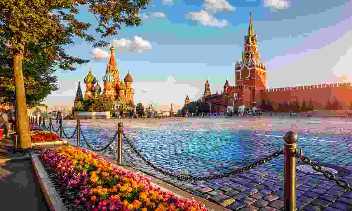 St. Basil's Cathedral and Spassky Tower on Red Square (Shutterstock)