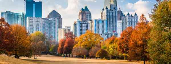 Atlanta midtown skyline from Piedmont Park (Shutterstock)