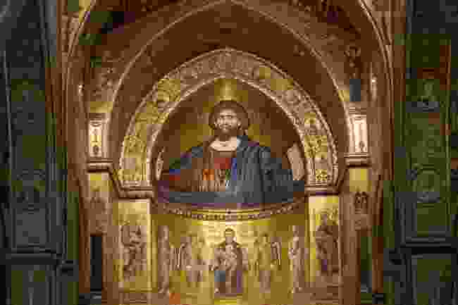 The Christ Pantocrator in Monreale Cathedral in Palermo, Italy (Shutterstock)