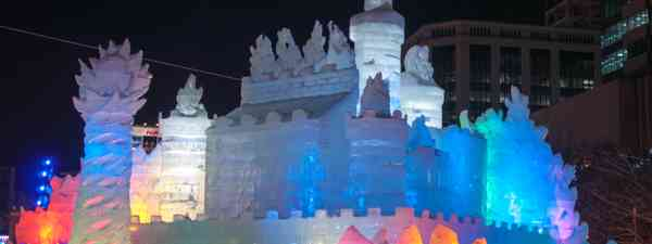 Lit up ice palace in Japan (Dreamstime)