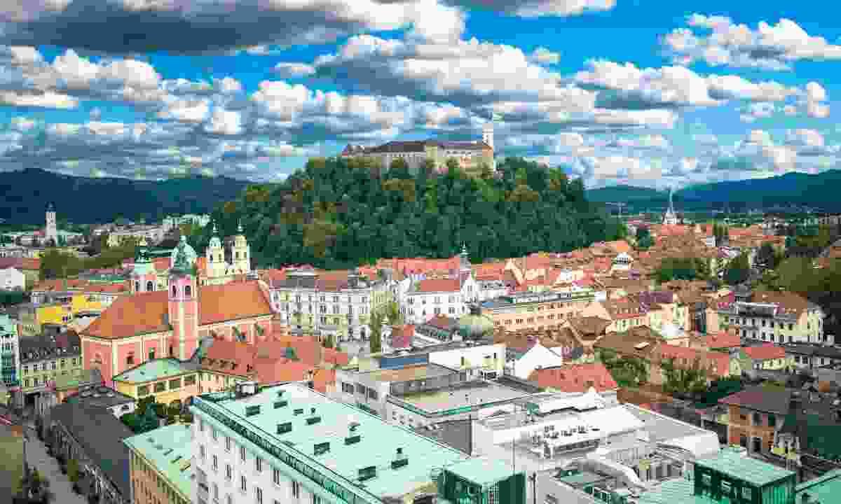 Ljubljana city view (Slovenian Tourist Board)