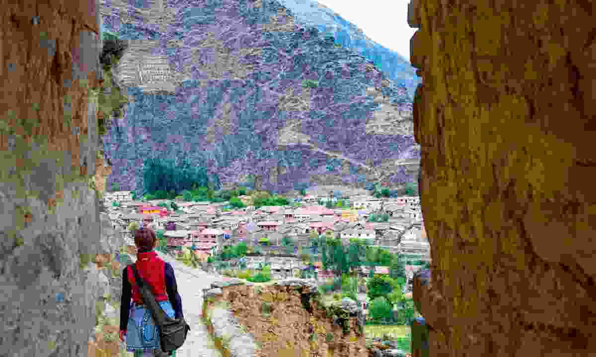 The last land: The Ollantaytambo ruins mark one of the few spots where the Conquistadors lost a battle, but it did little to halt the Inca's demise and the rebels were defeated soon afterwards (Dreamstime)