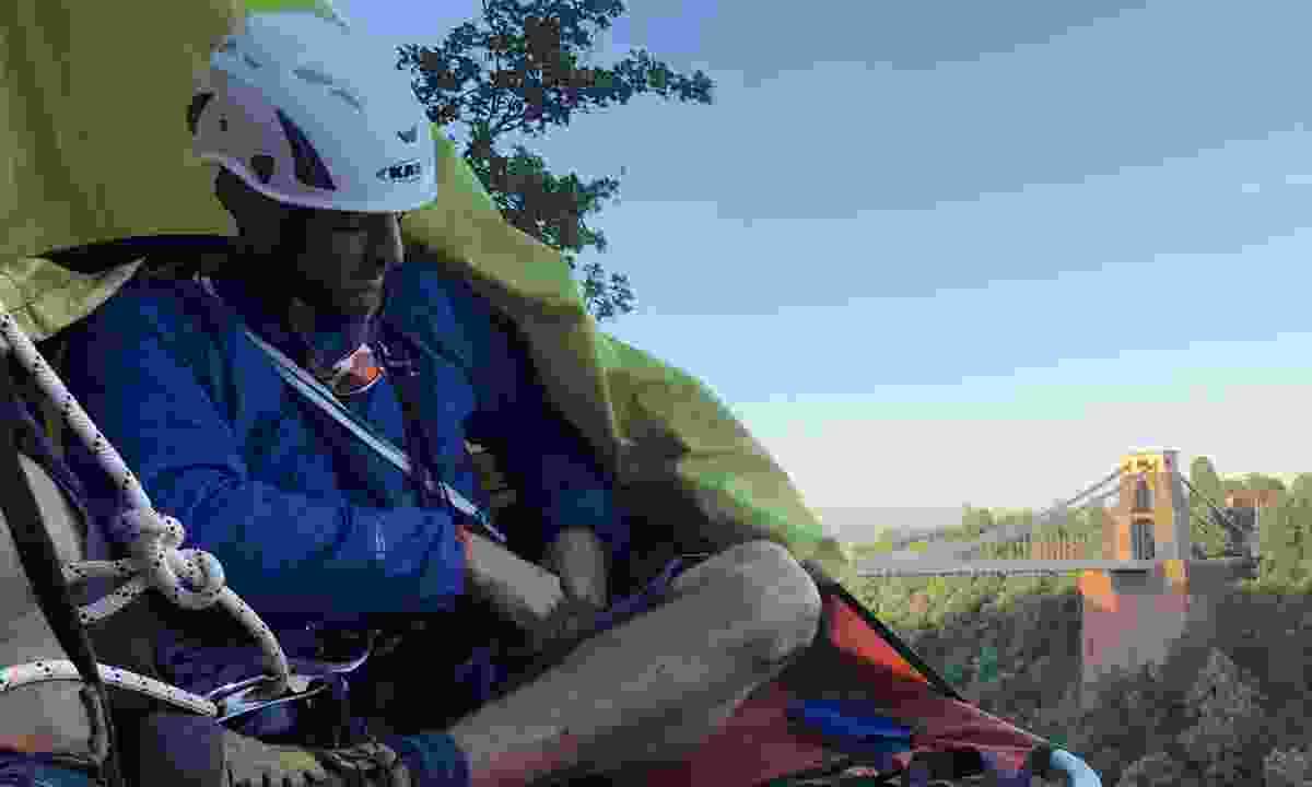 Portaledging on the Extreme Sleep Out in Bristol's Avon Gorge (Phoebe Smith)